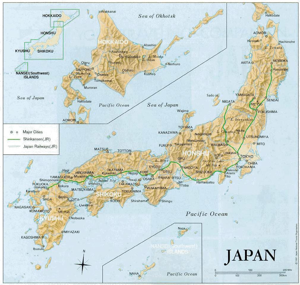 Barnaby And Tsugumi - Japan map pdf