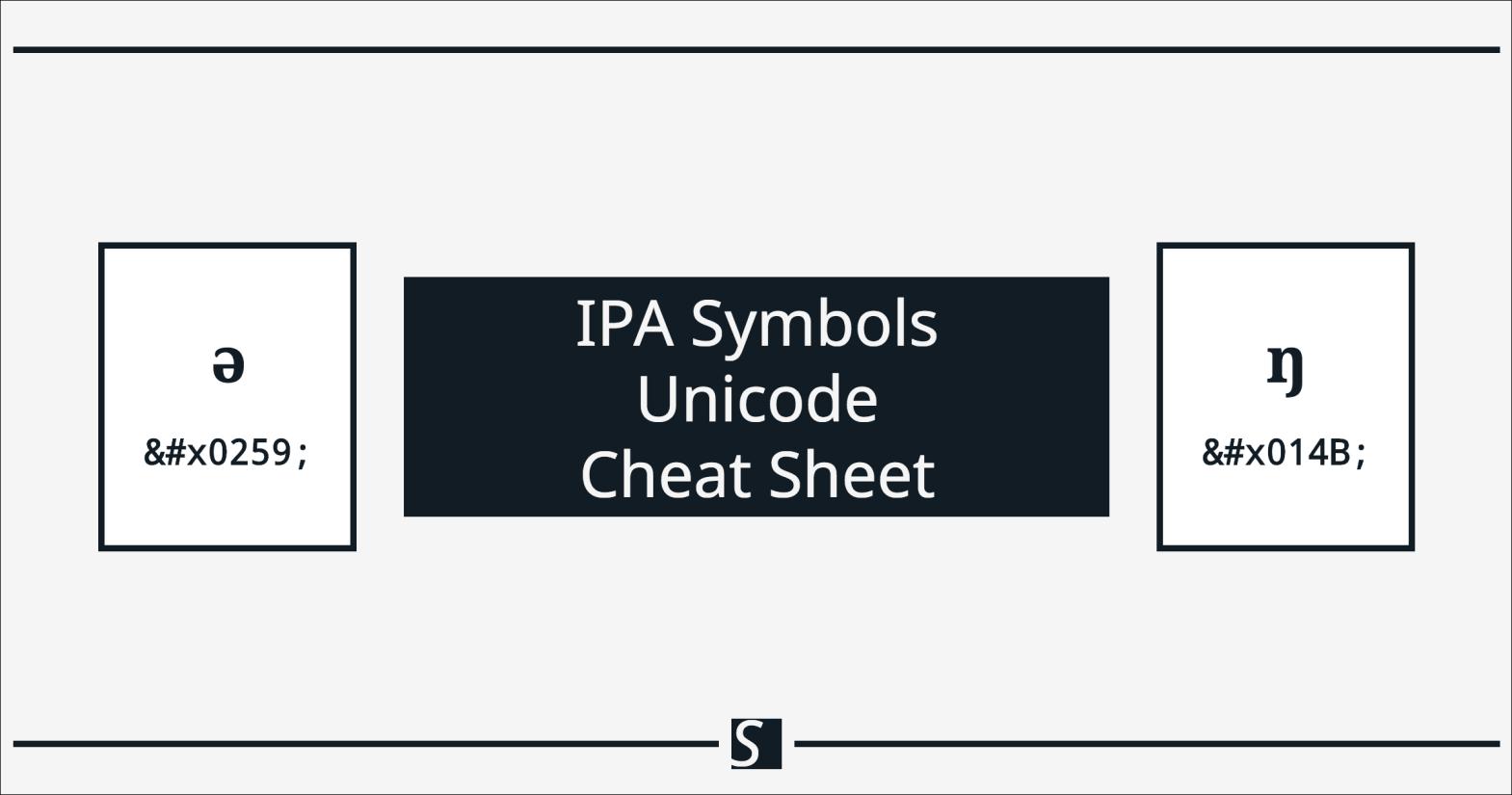International Phonetic Alphabet Ipa Symbols Unicode Cheat Sheet Adam Steffanick